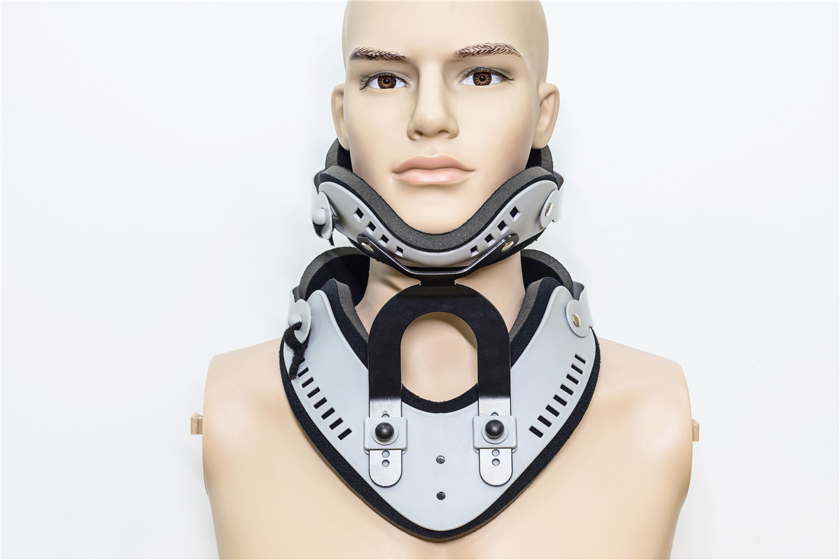 Adjustable cervical collar  neck braces